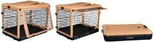 """Pet Gear Deluxe Steel Dog Crate 27"""" Small Kennel Home The Other Door"""
