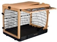 """Pet Gear Deluxe Steel Dog Crate 42"""" Large Kennel Home The Other Door"""