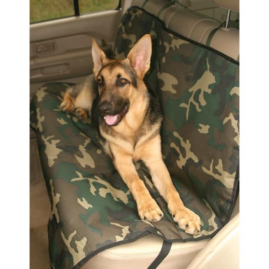 Guardian Gear Pet Pink or Green Camo Dog Car Back Seat Covers Cargo Cover Large