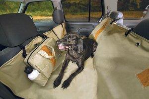 Kurgo Wander Hammock Pet Back Seat Cover Dog Car Tan or Black