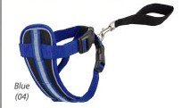 Doggles Chest Plate Dog Harness Bright Reflective Large ~ BLUE RED