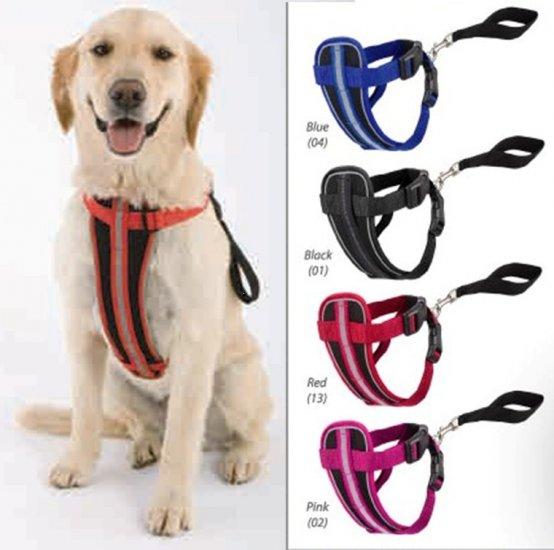 Doggles Chest Plate Dog Harness Bright Reflective X-Large ~ BLUE