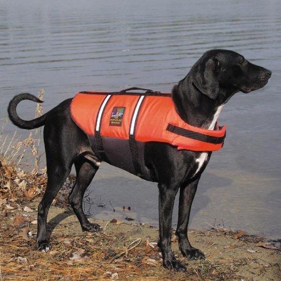 Outward Hound Pet Saver Dog Life Jacket Vest Safety Preserver Medium