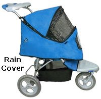 Pet Gear AT3 All Terrain Stroller - Blue Sky or Red holds pets up to 60 lbs.