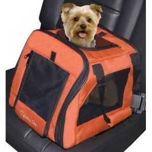 Mini Signature Pet Dog Car Seat Carrier - Terra Cotta - holds pets up to 12 lbs.
