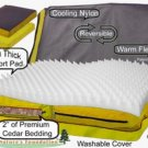 Extra Small Pet Gear Nature's Foundation Deluxe Dog Bed - Harvest Gold