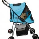 Pet Gear Ultra Light Dog Stroller Ice Blue holds pets up to 20 lbs.