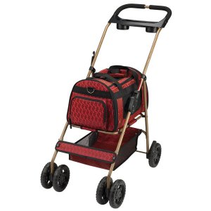 Cruising Companion Uptown Dual Purpose Pet Dog Stroller Carrier Red or Bronze pets up to 20 lbs.