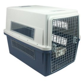 Iris USA Commercial Grade Auto Pet Carrier Dog Kennel Travel Crate Airline Approved Large