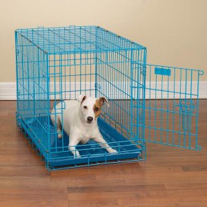"""ProSelect Fashioned Colored Wire Dog Crate Kennel Small 24"""" Blue or Pink"""