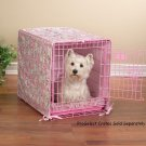 "2 pc crate cover and bed set matches Proselect Colored Wire Dog Crate Small 24"" Blue or Pink"