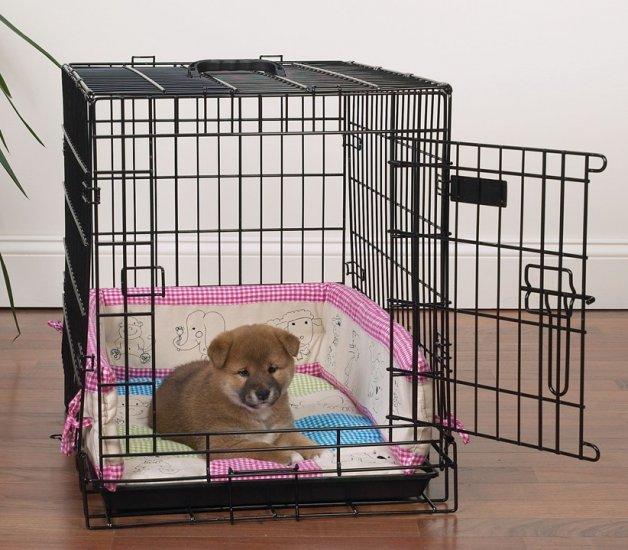 Slumber Pet Baby Bumper Embroidered Crate Kit for Pets Size X-Small