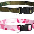 Guardian Gear Nylon Camo Dog Collar Small 10 - 16 in. necks Pink Green
