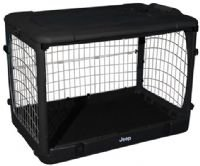 "JEEP Steel Dog Crate 42"" Large Kennel Home - Black"