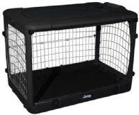 "JEEP Steel Dog Crate 36"" Medium Kennel Home - Black"