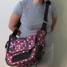 Outward Hound Courier Style Pet Carrier Pink Polka Dot Hands Free
