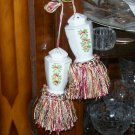 Vintage Salt Pepper Tassels Handmade JAPAN Unique Shabby Chic