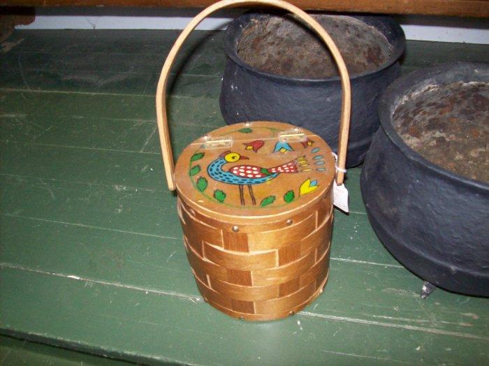 Vintage Basket Purse Retro Handbag Bag Woven Wood