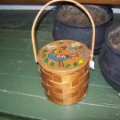 Vintage Basket Purse Retro Handbag Bag Woven Wood