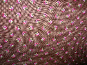 Brown with Pink Flowers Shopping Cart Cover