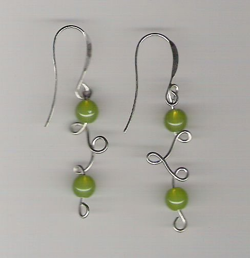 Handmade Wire Sculpted Earrings