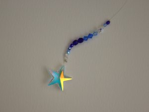 Sparkling Swarovski Star Crystal Window Hanging
