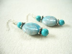Turquoise Silver Dangling Delight Earrings