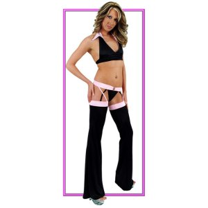 contrast banded chaps set
