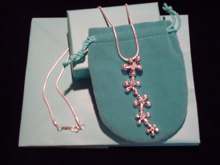 Five Flower Drop Necklace