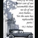 Chiropractic Care B.J. Palmer Quote Saying Poster Wall Chart