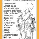 Signs of Spinal Misalignment Poster Wall Chart Chiropractic 18 X 24