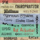 "Chiropractic Words Poster 18"" X 24"" Chart Customize"