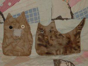 Primitive Cat Flatties Bowl Fillers Hangers E Pattern