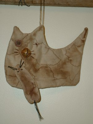 Primitive Cat With Mouse Flatties Bowl Fillers E Pattern