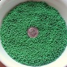 Size 11 Matsuno seed beads opaque green 15 grams