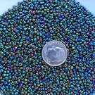 Size 11 iris beads Green 15 grams