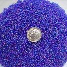 Size 11 Celestial rainbow beads cobalt 15 grams