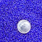 Size 11 Celestial silver lined beads cobalt 15 grams