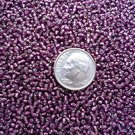 Size 11 Celestial silver lined beads purple 15 grams