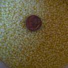 Size 11 pastel opaque seed beads yellow 15 grams
