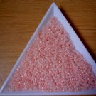 Size 11 pastel opaque seed beads pink 15 grams