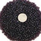 Size 6 transparent seed beads 25 grams Dark Amethyst