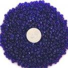 Size 6 transparent seed beads 25 grams Cobalt Blue