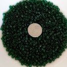Size 6 transparent seed beads 25 grams Dark Green