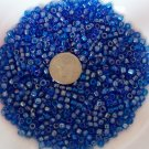 Size 6 seed beads Transparent Luster 25 Grams Dark Blue