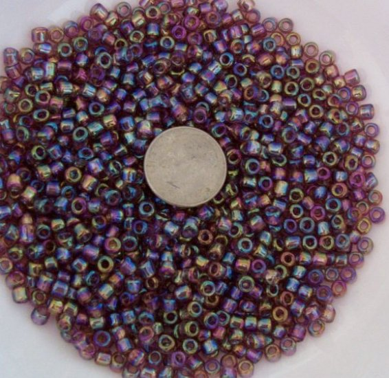 Size 6 seed beads Transparent Luster 25 Grams Lilac