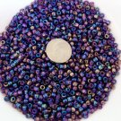 Size 6 seed beads Transparent Luster 25 Grams Purple