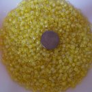 Size 6 seed beads Transparent Luster 25 Grams Yellow