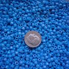 Size 6 seed beads Opaque Rainbow luster 25 grams Turquoise