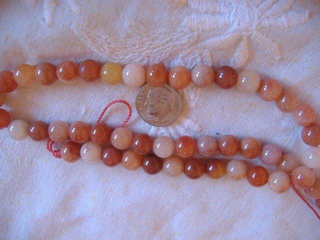 Gemstone stone beads Peach quartz Round 8MM 15 inch strand